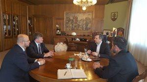Stretnutie s predsedom Národnej rady SR Andrejom Dankom